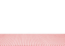 Empty red tablecloth material wooden isolated on white background. for product display montage.