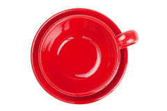 Empty red tea cup, isolated Stock Photography