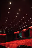 Empty red theater stock photography