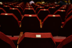 Empty Red Theater Seating Stock Photo