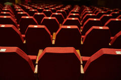 Empty Red Theater Seating Royalty Free Stock Photography