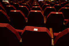 Empty Red Theater Seating Stock Images