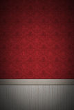 Empty red wall. An empty red decorated wall. Vignette added. 24 Megapixel file Vector Illustration