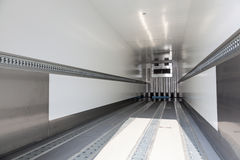 Empty refrigerated trailer Royalty Free Stock Photography