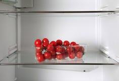 Empty refrigerator Stock Images