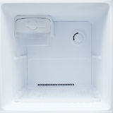 Empty refrigerator freezer. Of kitchen appliance Stock Photo
