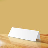 Empty reserved Sign. On wood Table stock images