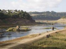 Empty reservoir Royalty Free Stock Photography