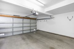 Empty Residential Garage royalty free stock photo