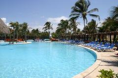 Empty resort pool stock photos