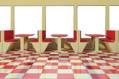 Empty restaurant Stock Images