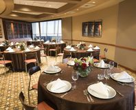 Empty restaurant dining room. Royalty Free Stock Photos