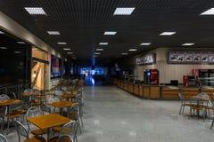 Empty restaurant gallery of the exhibition centre Crocus-Expo. Stock Image