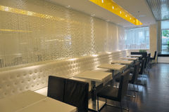 Empty restaurant interior. With stage waiting for customers Stock Images