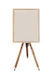 Empty restaurant menu street white chalkboard isolated. On white background Royalty Free Stock Photo