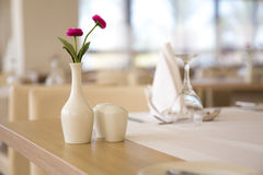 Empty restaurant table. Served for the lunch Royalty Free Stock Photo