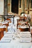 Empty restaurant tables Royalty Free Stock Photos