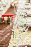Empty restaurant utensil Royalty Free Stock Photo