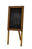 Empty Restoraunt Menu Chalkboard Isolated on White Background. Empty Restoraunt Menu Chalkboard as Copy Space Isolated on White Background Stock Image