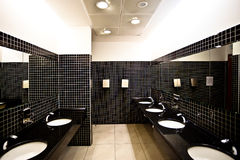 Empty restroom interior Royalty Free Stock Photos