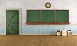 Empty retro classroom Stock Photography