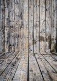 Empty retro wooden room Stock Images