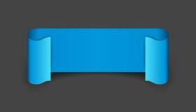 Empty ribbon vector icon. Blank sticker label on black backgroun Royalty Free Stock Photo