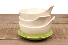 Empty rice bowl Stock Image