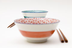 Bowls And Chopsticks Royalty Free Stock Photos