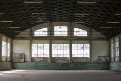 Empty riding arena is suitable for dressage horses Stock Photo