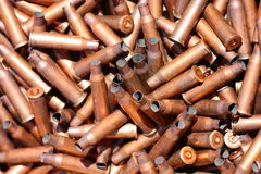 Empty rifle cartridge cases (sleeves) Royalty Free Stock Photo