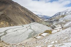 Empty river in Himalaya Royalty Free Stock Image
