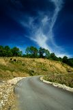 Empty road. In the countryside Royalty Free Stock Image