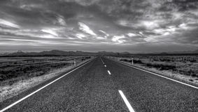 Empty Road. An empty road in New Zealand Royalty Free Stock Images