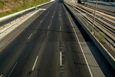 Empty road. S - Yom Kipur Israel Stock Photography