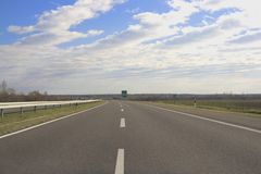 Empty road. And blue sky stock photo