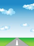 Empty road. Empty landscape with road; illustration template Stock Image