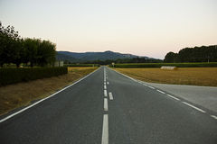 Empty road ahead Royalty Free Stock Photo