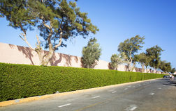 Empty road along  in Egypt Royalty Free Stock Photography