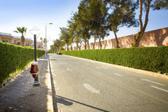 Empty road along  in Egypt Stock Photography