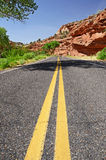 Empty road through the American West Royalty Free Stock Images