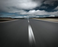 Free Empty Road And Clouds Royalty Free Stock Photo - 2099935