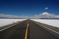 Empty Road in Argentina stock photography