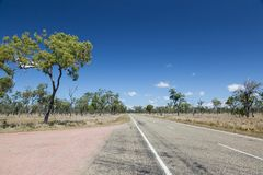 Empty road in the Australian Outback Royalty Free Stock Images