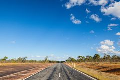 Empty road in the Australian Outback Stock Photos