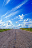 Empty road with blue sky Stock Photography