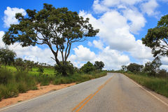 Empty road at Brazil Stock Images