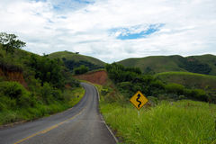 Empty road at Brazil Royalty Free Stock Image
