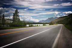 Empty road in Canada Stock Photography