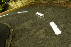 Empty road close up Royalty Free Stock Images
